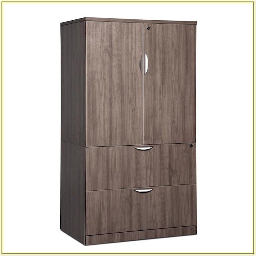 Locking Storage Cabinet Living Room
