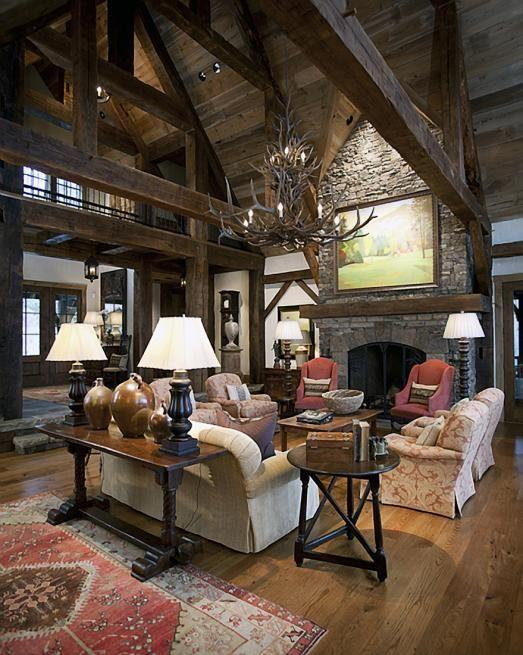 Log Cabin Living Room Curtains