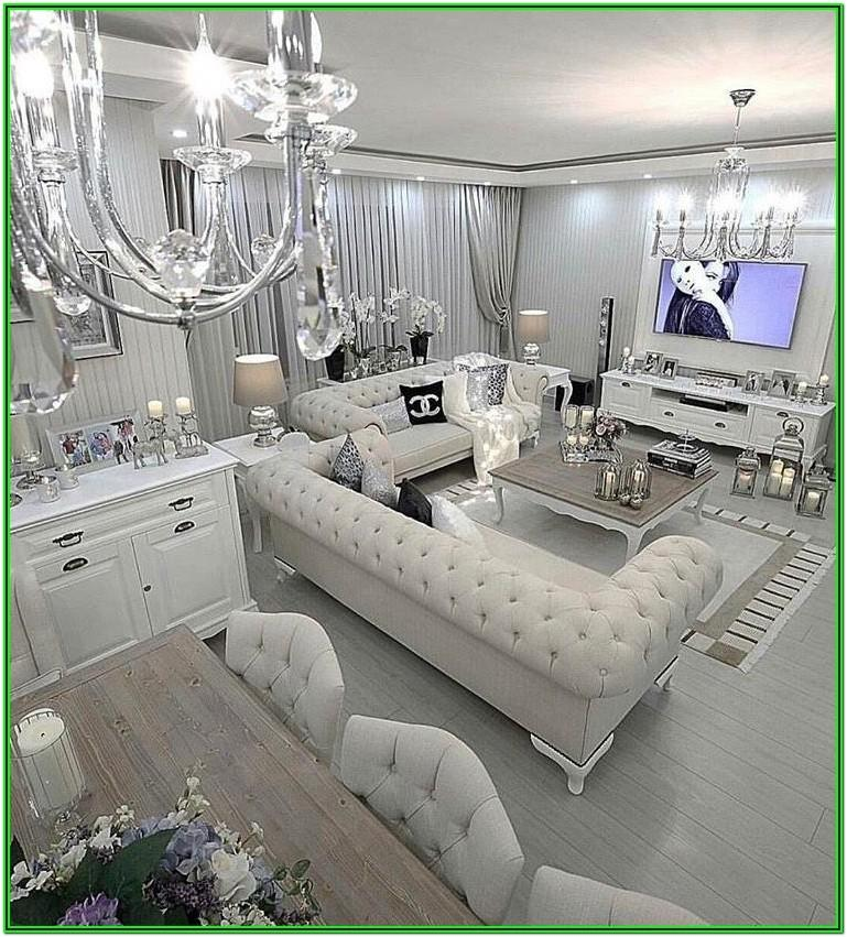 Luxury Silver Living Room Decor Ideas