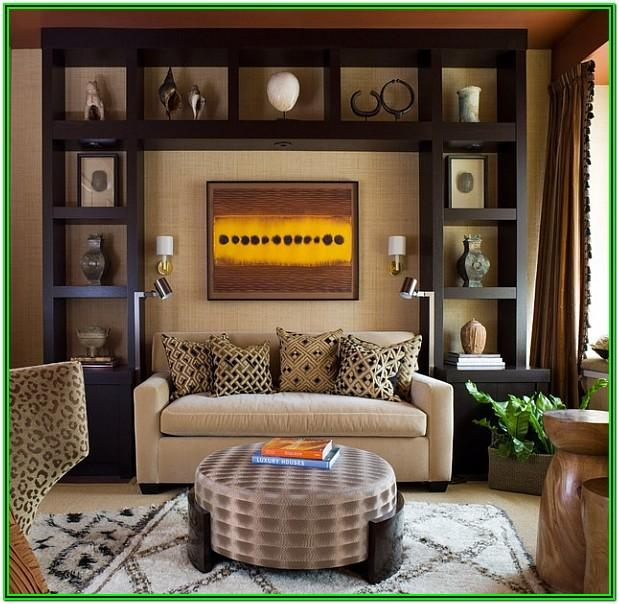 Modern African Themed Living Room