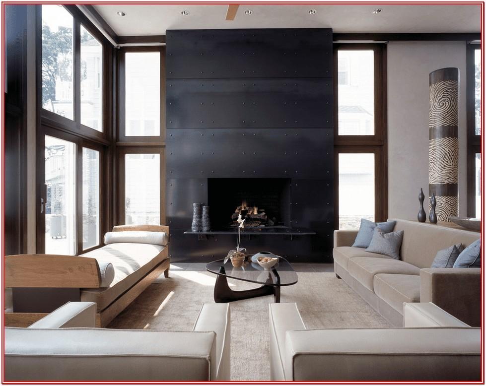 Modern All Black Living Room