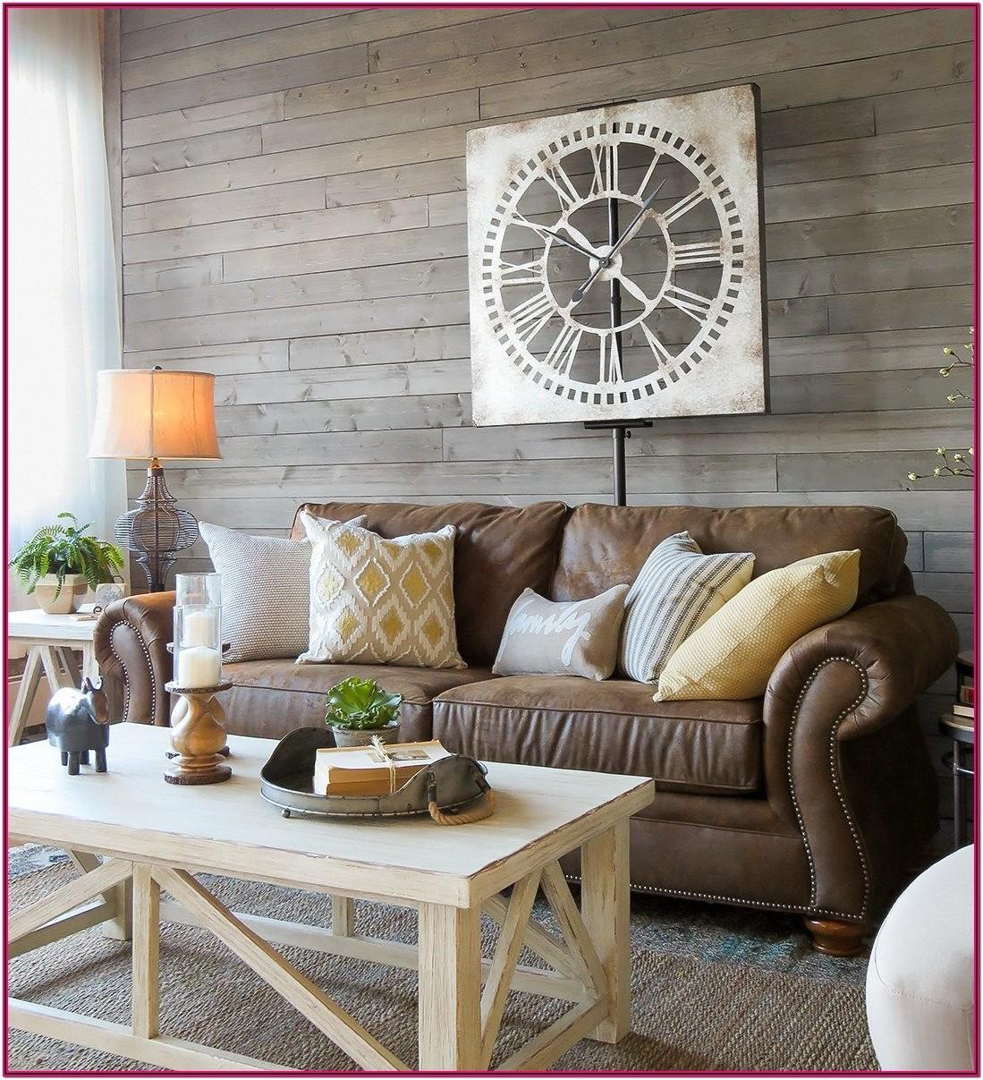 Modern Farmhouse Living Room Brown Couch