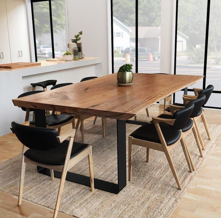 Modern Live Edge Dining Room Table