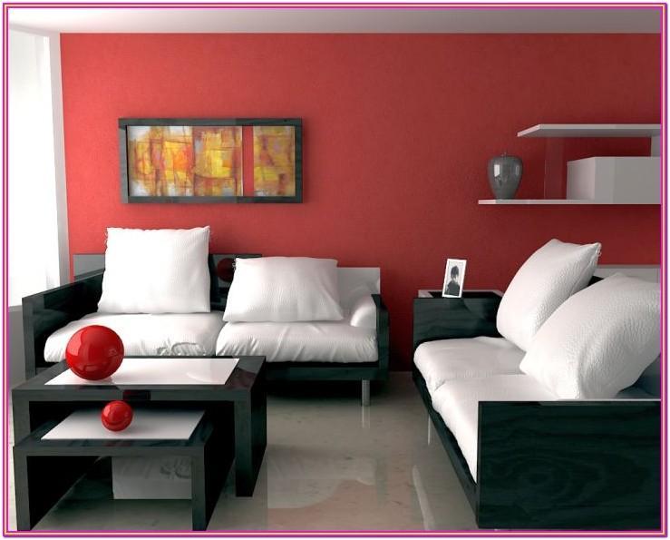 Modern Maroon Sofa Living Room