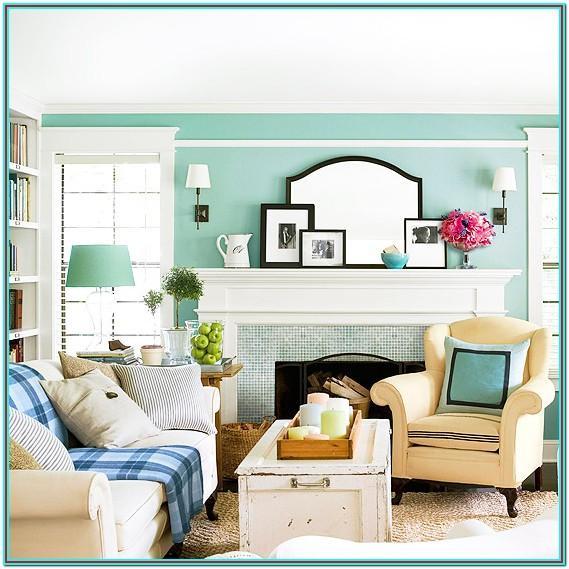 Modern Seafoam Green Living Room