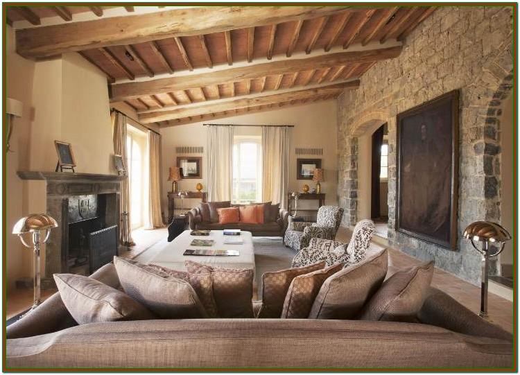 Modern Tuscan Living Room