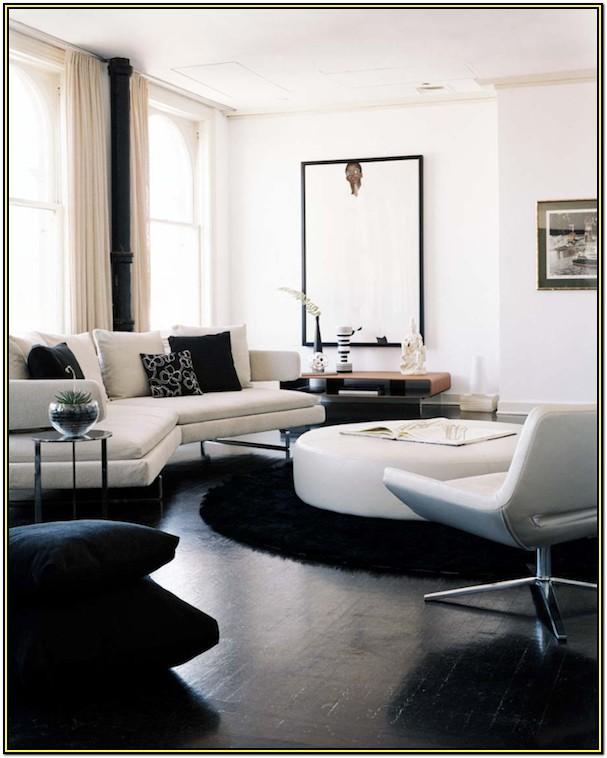 Modern White Leather Sofa Living Room Design