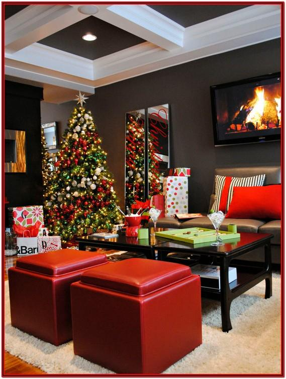 Modern Xmas Living Room Decorations