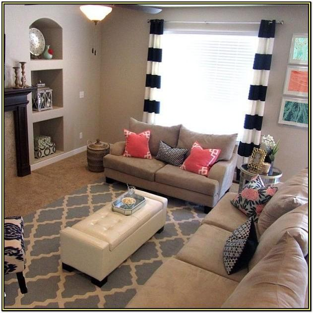 Navy Blue And Coral Living Room Ideas
