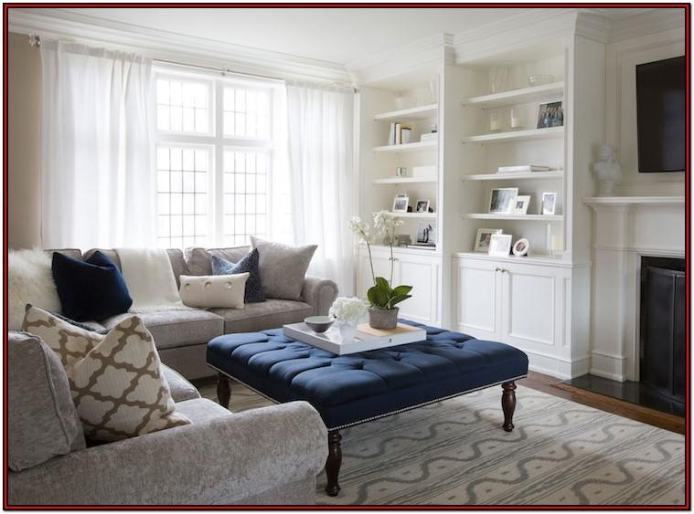 Navy Blue And Tan Living Room