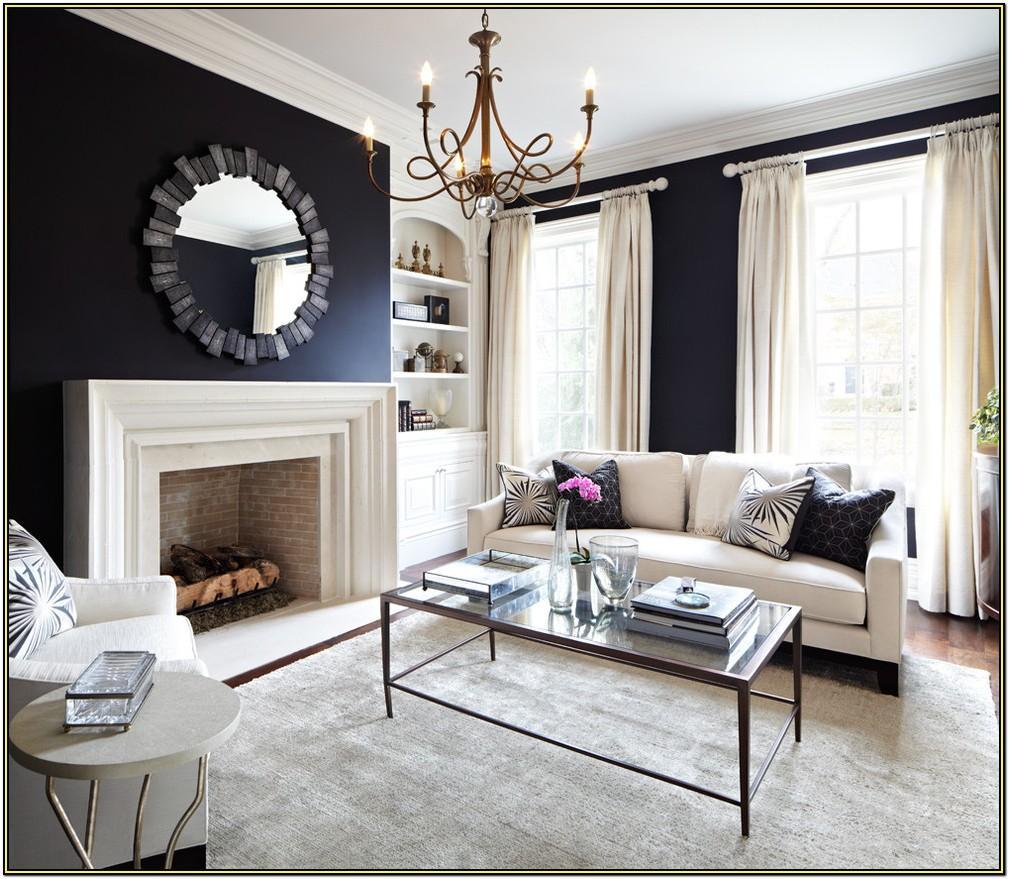 Navy Blue Living Room Curtain Ideas