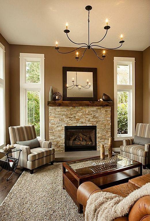Neutral Brown Living Room Colors