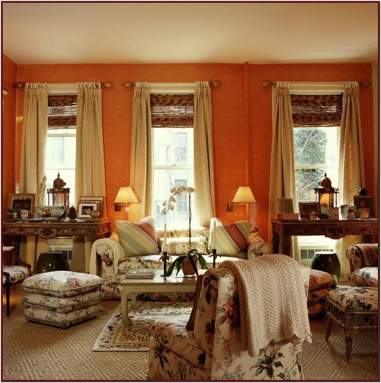 Orange And Brown Living Room Curtains