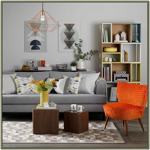 Orange And Grey Living Room Decor