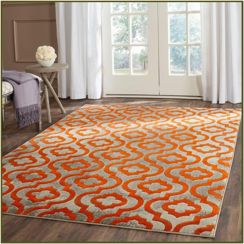 Orange Rugs For Living Room