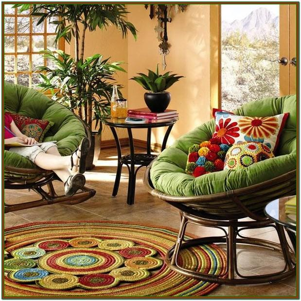 Papasan Chair In Living Room
