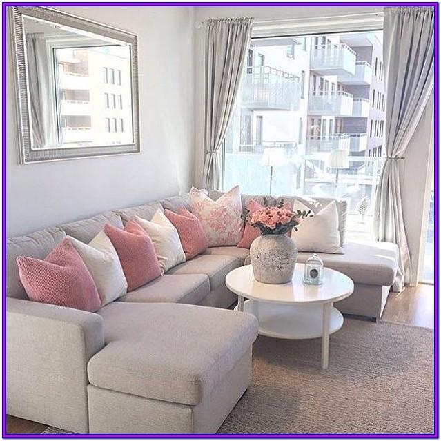 Pink And Grey Living Room Curtains