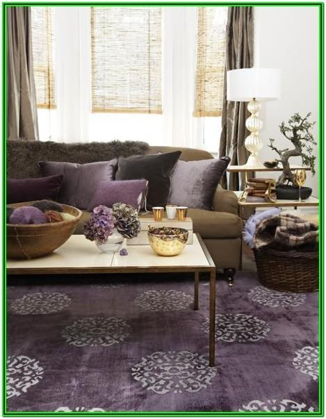 Purple Grey And Brown Living Room