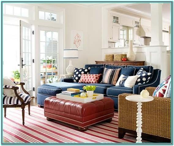 Red And Blue Color Scheme Living Room