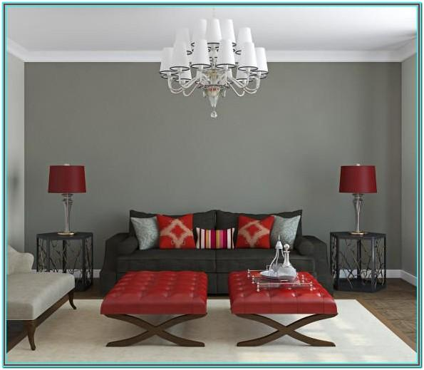 Red And Gray Color Scheme Living Room
