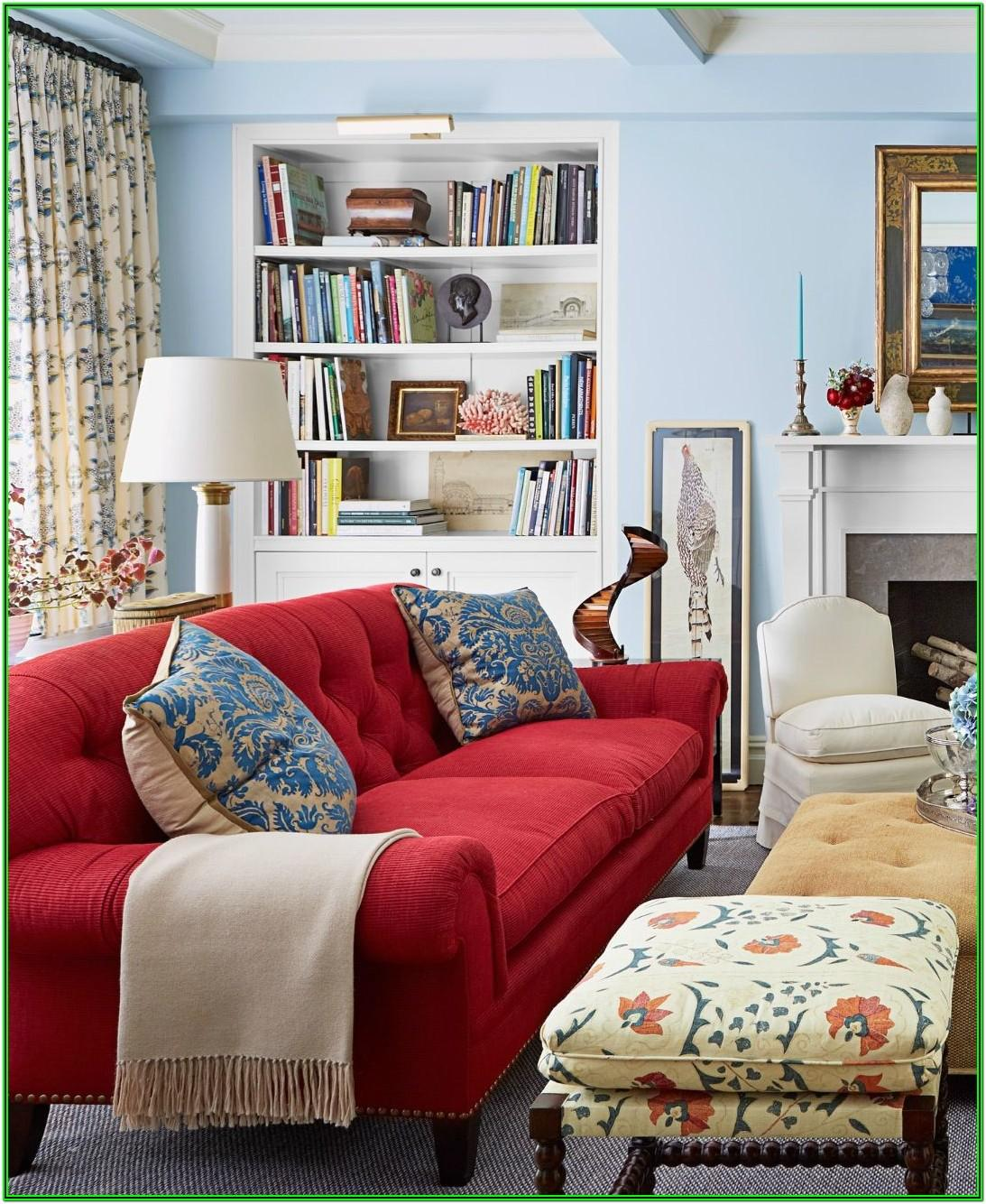 Red Couch Living Room Design