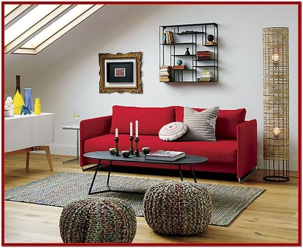 Red Sofa Living Room Decor Ideas