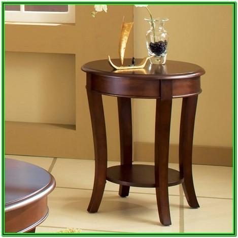 Round Wood End Tables For Living Room