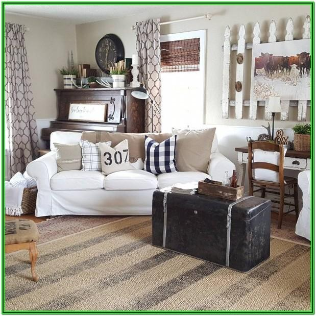 Rustic Farmhouse Farmhouse Living Room Curtains