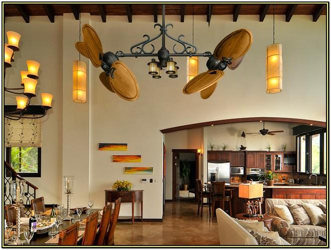 Rustic Living Room Ceiling Fans