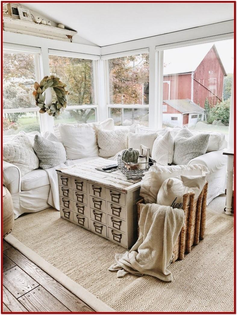 Rustic Winter Living Room Decor