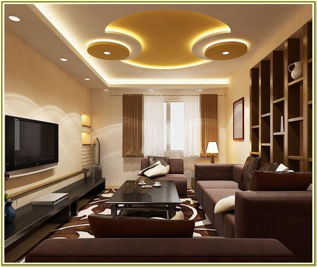 Simple Modern Ceiling Design For Living Room