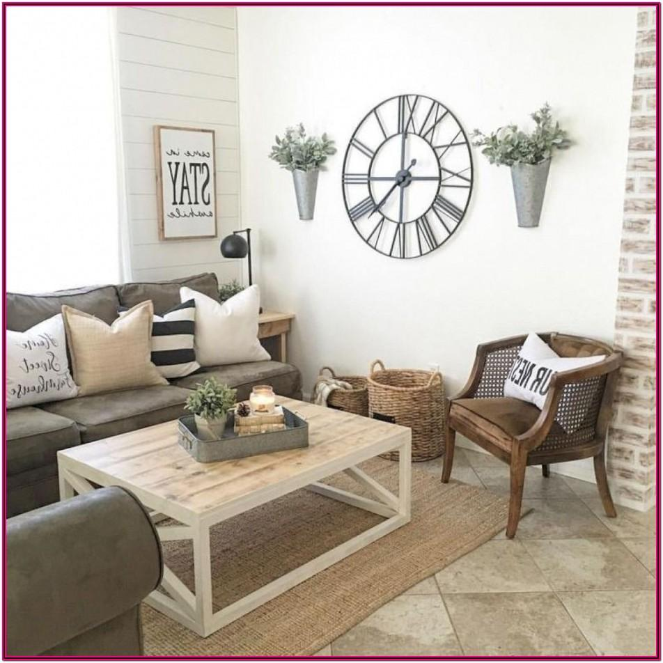 Small Farmhouse Living Room Brown Couch