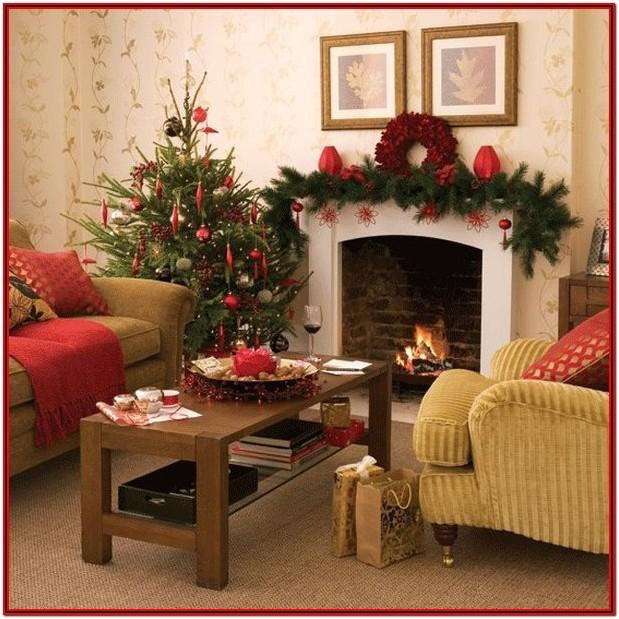 Small Living Room Xmas Decor