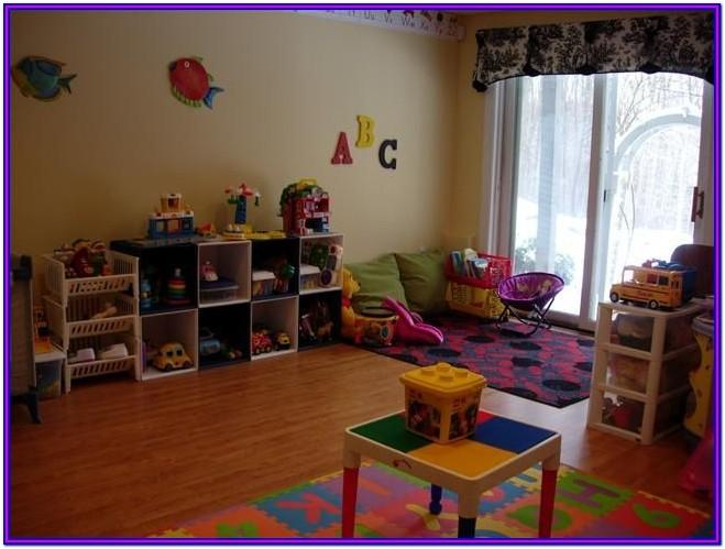 Small Space Home Daycare Setup In Living Room