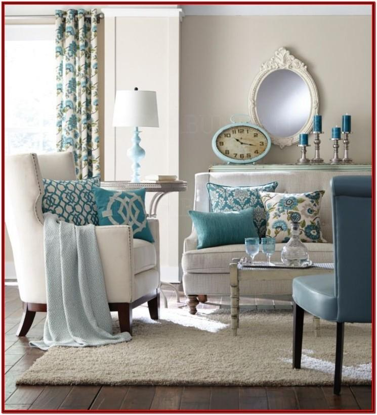 Teal And Beige Living Room Decor