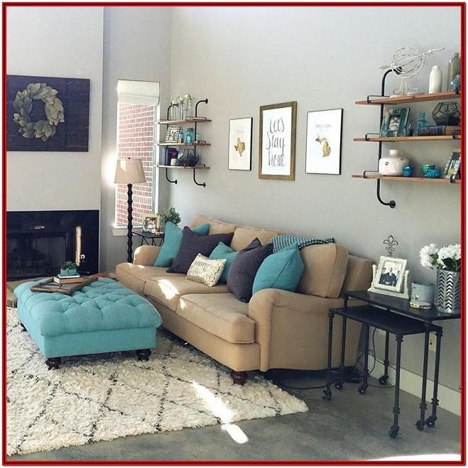 Teal And Beige Living Room Ideas