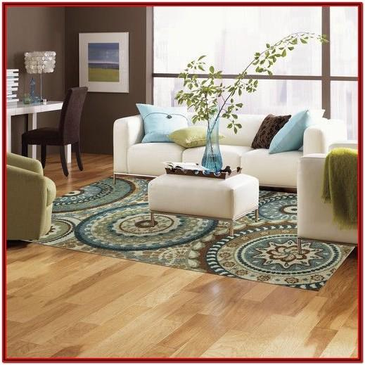 Teal And Brown Living Room Rugs