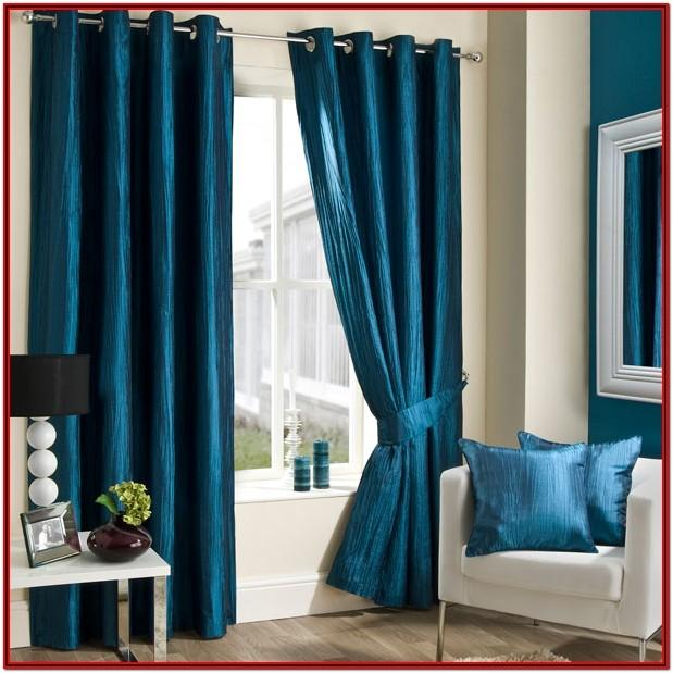 Teal Blue Curtains Living Room