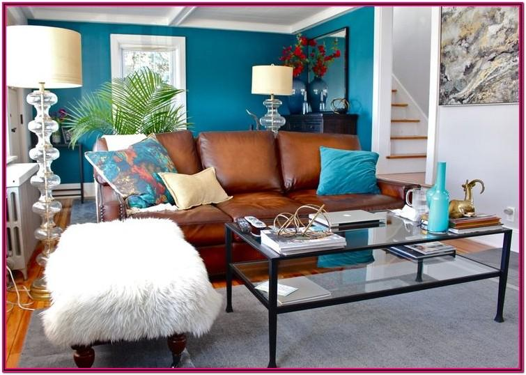 Teal Leather Sofa Living Room