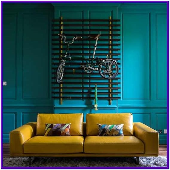 Teal Yellow Teal And Mustard Living Room