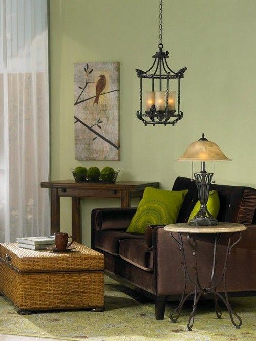 Wall Brown Living Room Colors