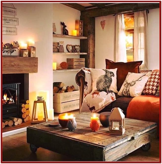 Warm Winter Living Room Decor