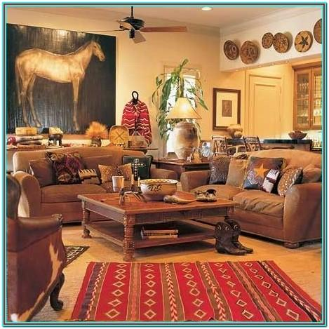 Western Themed Living Room Decor