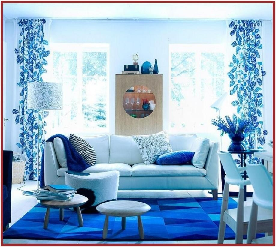 White And Blue Living Room Decor Ideas