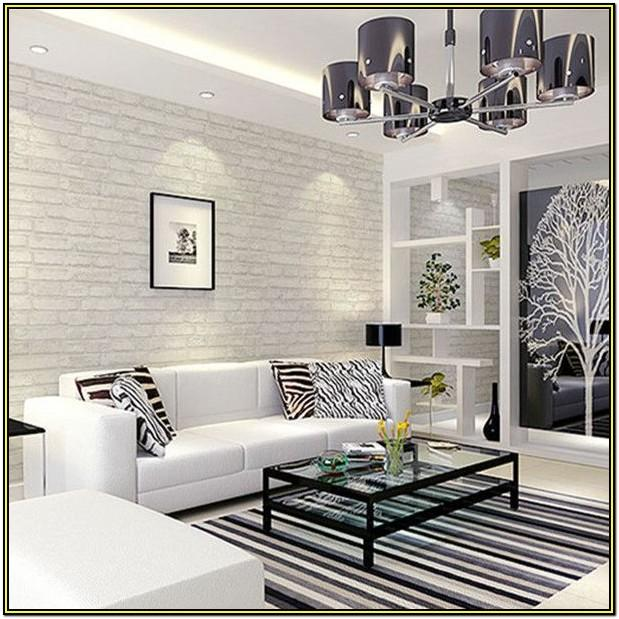 White Brick Wall Living Room Ideas