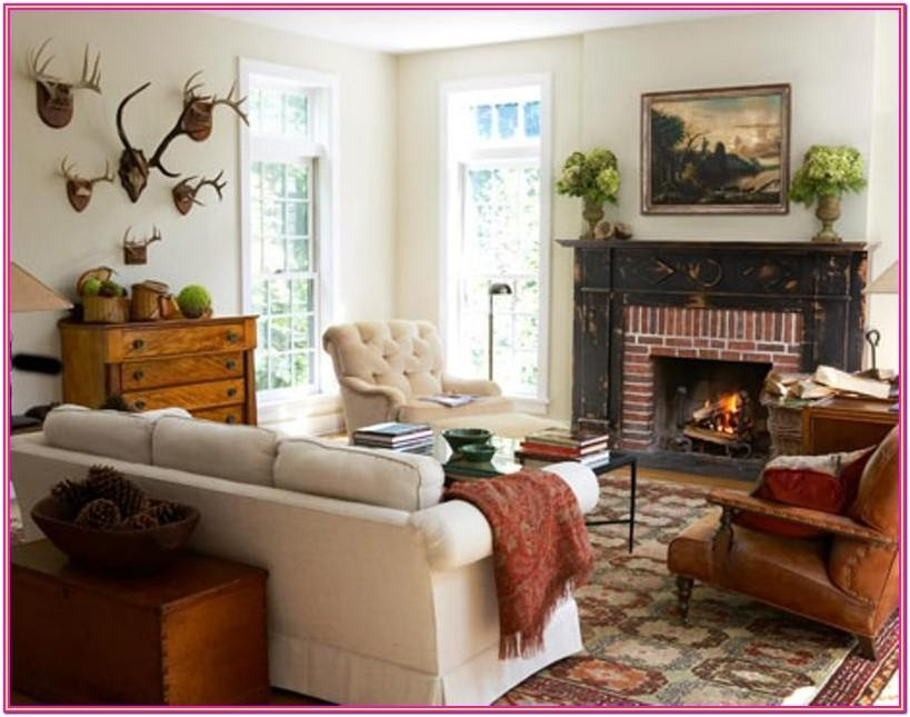 White Distressed Living Room Ideas