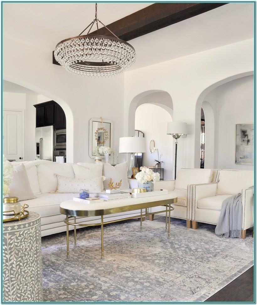 White Gold And Silver Living Room