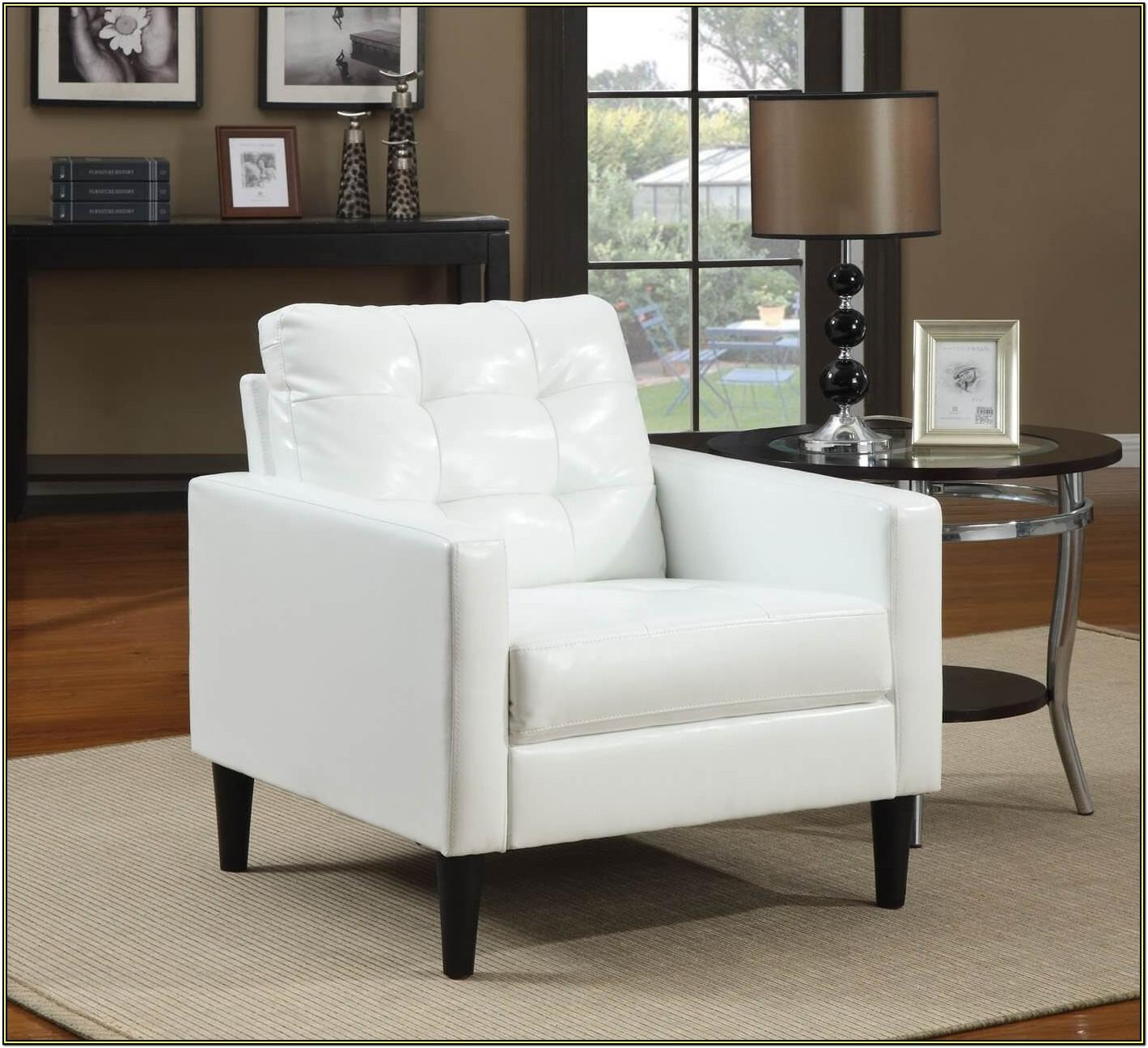 White Modern Chair For Living Room