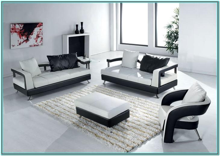 White Modern Living Room Furniture Sets