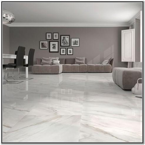 White Tile Living Room Wall